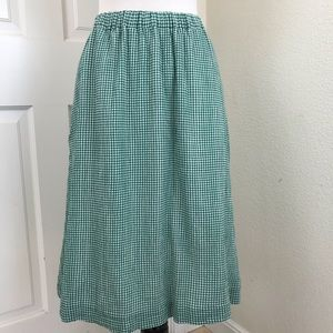 J Crew Gingham Check Skirt With Pockets Green 8